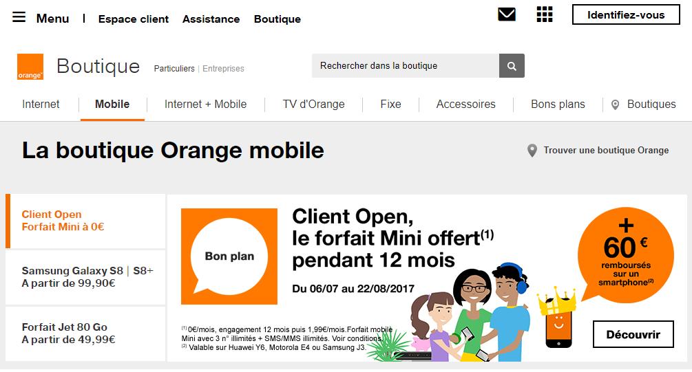 orange france интернет во франции